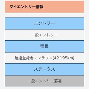 東京3大抽選マラソン(仮)制圧はいかに!?
