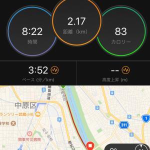 今日は熊日30km5日前の刺激走!