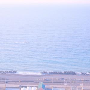 八月の始まりは朝の海