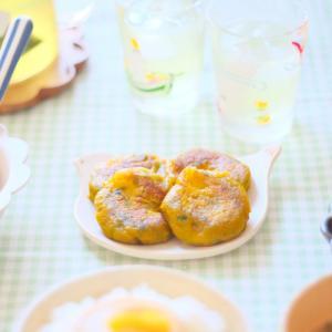 夏の朝ごはん チーズがとろ〜りかぼちゃもち