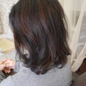 3カ月経過 伸びると自然に毛先が軽くなります。