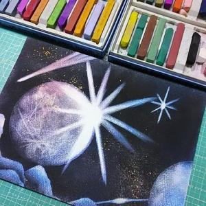【一緒に宇宙旅行しましょう】~パステル宇宙アート~ 神戸