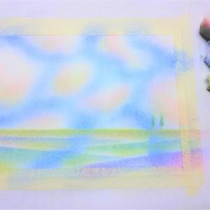 【目からウロコ、間違いなしです】 ~ふわふわの綿で描く三原色パステルアート~ 神戸