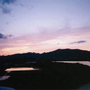 【夕焼け空とパステル】 ~ふわふわの綿で描く三原色パステルアート~ 神戸