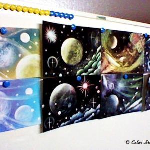 【宇宙アートは実験なんです】 ~パステル宇宙アート~ 神戸