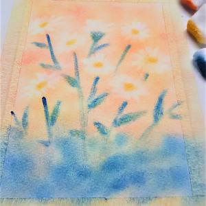【虹を描く】 ~ふわふわの綿で描く三原色パステルアート~ 【全国対応】