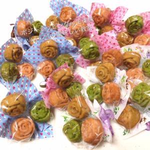 昨日昼のお菓子教室「薔薇のマドレーヌとミニポジーラッピング」マンツーマンレッスン