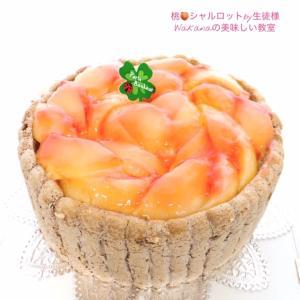 本日朝のお菓子教室★旬★「桃のシャルロット」プライベート個人レッスン