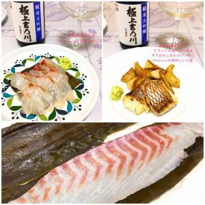 さばいた鯛はおうちごはんへ2日目★鯛の昆布じめ、鯛の塩バター焼きで金曜ディナー