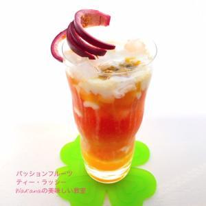 暑い時季8月におススメの紅茶講座★メロンミルクアイスティー、グレープフルーツセパレートティー他」