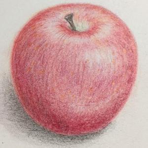 リンゴ描いてみた!