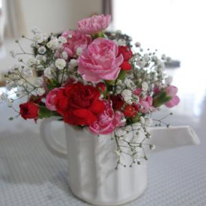しのぎティーポット★花を飾る★7×6