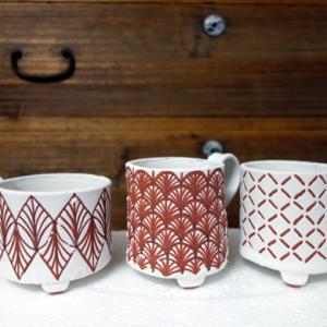 キッチンで釉掛け★マグカップ5個