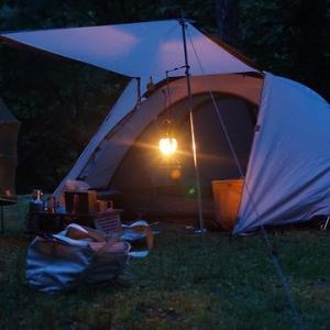 【プチ改造】ミニ焚火台とツーリングドームテント