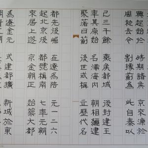 劉炳森 隷書「明 北京城」⑨