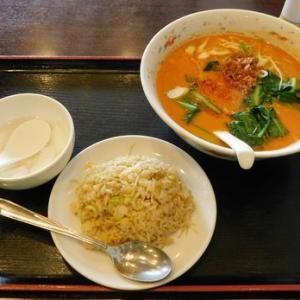 随園別館 グランデュオ立川店@立川の担々麺とチャーハンセット