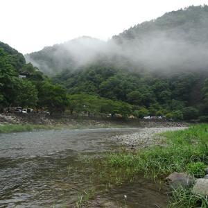 魚類消滅? 道志村 両国橋でキープディスタンス from 魚