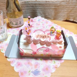 【シャトレーゼ】予約したケーキとひな祭りごはん