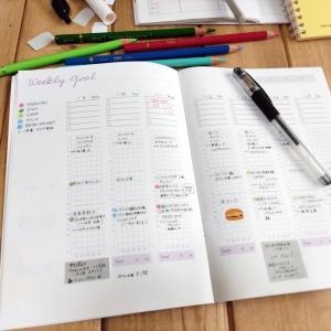 【手帳】習慣と一緒に献立決めで楽になった
