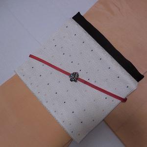 awai美人色紬と正六小花のクリスマスコーディネート