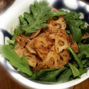 シャキシャキ蓮根サラダ