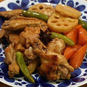 鶏の黒酢煮・エビチリとチャーハン