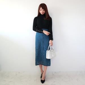 ●coordinate 女性らしく知的に決まるロングレーススカート♡