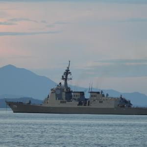 海上公試中の護衛艦 DDG-179「まや」来港 やったね!