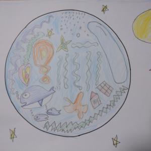 """""""子どもたちの未来の地球アートの輪"""""""