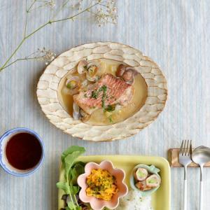 スープ仕立ての赤魚