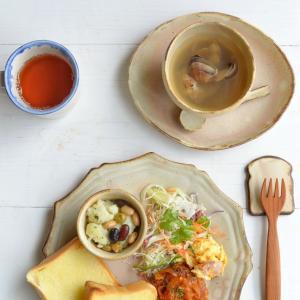 グレース丸皿と朝ごはん