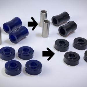 【ABRブッシュ】が紺色からブラックに統一されます。