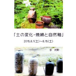 「土の変化 - 焼締と自然釉」