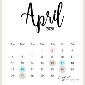 4月レッスンスケジュール