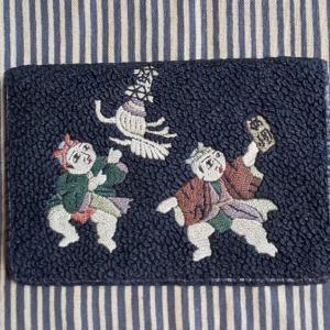 相良織り  の  折り財布