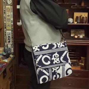 神田ちょん子  オリジナル  刺し子 浴衣地 ショルダー