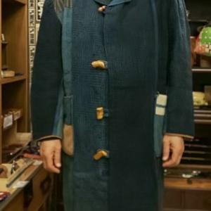 藍染め 手刺し子コート