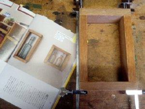 ボックス型の棚を作りました