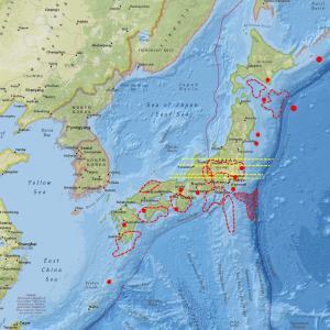 プレートは安定、しかし地震計数値は各地で上昇…