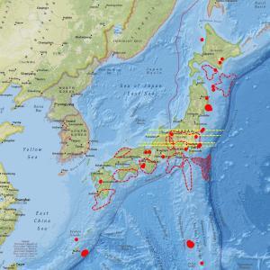 宮城県沖でM6.1、M4.2の地震発生、その後も地震計は…