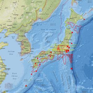 気象条件の影響を受けるも各地の地震計数値が上昇…