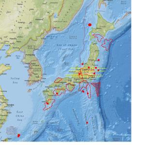 北海道の数値は下降、三宅島は継続中…