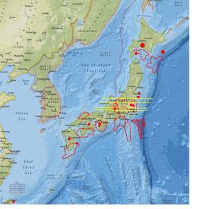 全国の地震計数値に変化…