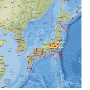 ◆全国一斉に地震計数値が上昇…