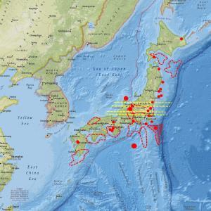 今のところ地震計には小さな変化のみ…