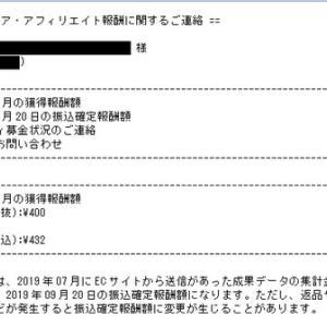 リンクシェアさんからの獲得報酬7月分(*^^*)