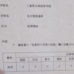 知らなければトップ校に合格できない県もある?高校入試の関門。内申点というのがあった。三重県公立高校内申点について。特に津高校について分析、私見。
