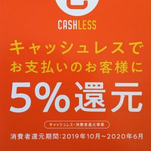 「5%ポイント還元」キャッシュレス消費者事業対象です。
