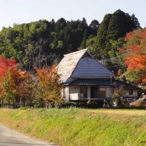 【水彩画モチーフ/秋の民家】#8 田舎の紅葉風景にチャレンジしよう!