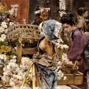 明治に香る菊 ロバート・ブラムの油彩が垣間見せるリアルな空気